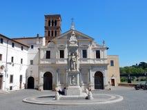 Roma - basílica de St Bartholomew en la isla Fotografía de archivo libre de regalías