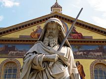 Roma - Basilica of Saint Paul Outside the Walls royalty free stock images