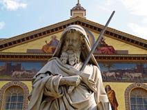 Roma - basilique de Saint Paul en dehors des murs Images libres de droits