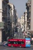 roma Bus rosso turistico Via del Corso, centro storico Fotografia Stock Libera da Diritti
