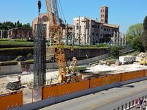 Roma - Cantiere Metro Colosseo Royalty Free Stock Photo