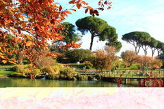 Roma, casa de campo Doria Pamphili Fotografia de Stock