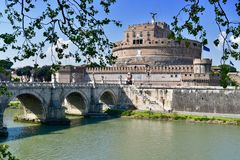 Roma castle ST Angelo Royalty Free Stock Image