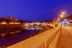 roma Catedral do ` s do rio e do St Peter de Tibre imagem de stock royalty free