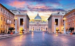 Roma, Cidade Estado do Vaticano imagem de stock