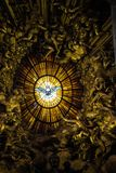 Roma, Città del Vaticano, la basilica di St Peter, dentro l'altare di Th Fotografia Stock