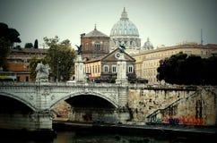 Roma City Italy bridge Vatican royalty free stock photos