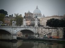 Roma City Italy bridge royalty free stock photos