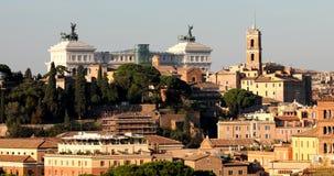 Roma, colina video real del paisaje 4k Aventino almacen de video