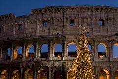 Roma - Colosseo Natale 2007 Royalty Free Stock Images