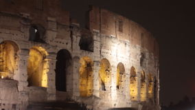 Roma Colosseo night scene stock video footage