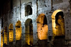 Roma - Colosseo (Particolare). Roma - Colosseo in notturna  (Particolare Royalty Free Stock Photography