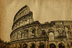 Roma colosseum Obrazy Royalty Free