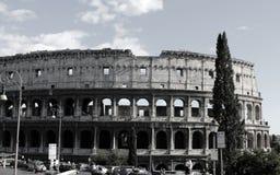 Roma Colosseum in bianco e nero fotografia stock