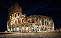 Roma, the Colosseum or Coliseum. The Colosseum or Coliseum also known as the Flavian Amphitheatre. Anfiteatro Flavio or Colosseo is an oval amphitheatre in the Stock Photo