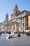 ROMA 5 DE AGOSTO: Plaza Navona el 5 de agosto de 2013 en Roma. Imagen de archivo libre de regalías