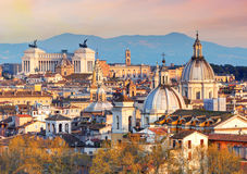 Roma de Castel Sant ' Angelo, Itália. Foto de Stock Royalty Free