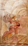 ROMA - 22 DE MARÇO: O fresco de Gabriel do arcanjo do aviso scen Imagens de Stock