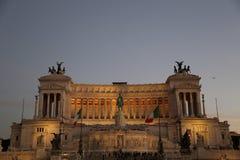Roma, della Patria di Altare alla notte Fotografia Stock Libera da Diritti