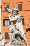 Roma - detalhe da fonte da praça Navona Fotografia de Stock Royalty Free