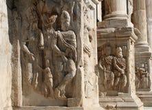 Roma - detalle del arco del triunfo de Constantino Fotografía de archivo libre de regalías