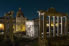 Roma di notte Immagine Stock