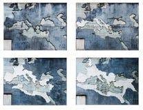 The Roma Empire maps Stock Photos