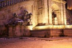 Roma en la nieve Foto de archivo libre de regalías
