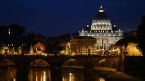 Roma en la noche almacen de metraje de vídeo