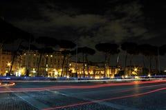 Roma entro la notte Fotografia Stock
