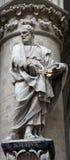 Roma - estátua do apóstolo do St. Peter - catedral Fotos de Stock