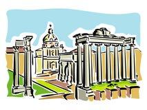 Roma (fórum romano antigo) ilustração do vetor