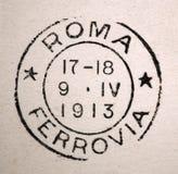 Roma Ferrovia Rome Rail Road Postmark 1913