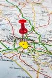 Roma fijó en un mapa de Italia Fotos de archivo