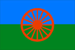 Roma flag Royalty Free Stock Photography