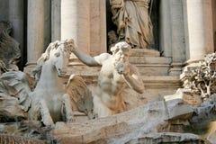 Roma - fontana di Trevi fotografia stock libera da diritti