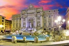Roma - fontana di Trevi, Italia immagine stock libera da diritti