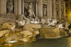 Roma - Fontana Di Trevi at night Royalty Free Stock Image