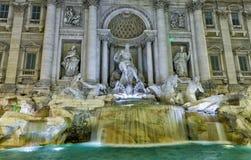 Roma, a fonte do Trevi Imagens de Stock