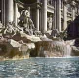 Roma, fonte do Trevi, detalhe imagens de stock