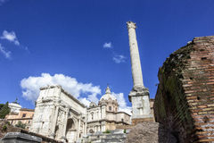 Roma Forum Royalty Free Stock Photography