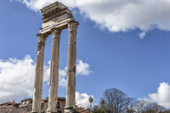 Roma Forum. Ancient Tample, Italy Series Royalty Free Stock Images