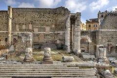 Roma, forum di Augusto - vista frontale Immagine Stock Libera da Diritti
