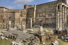 Roma, forum di Augusto - vista vicina Immagine Stock Libera da Diritti
