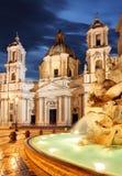 Roma, fuente en la plaza Navona fotografía de archivo