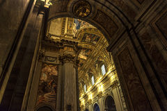 Roma, iglesia interior Fotografía de archivo