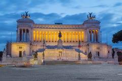roma Il monumento è l'altare del ` del ` di patria nella sera Fotografia Stock Libera da Diritti