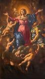 Roma - il presupposto di vergine Maria da Domenico Cerrini (1609 - 1681) in chiesa Chiesa Nuova (Santa Maria in Vallicella) Fotografie Stock