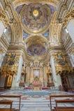 Roma - il santuario e la cupola della chiesa barrocco Chiesa Nuova Immagini Stock