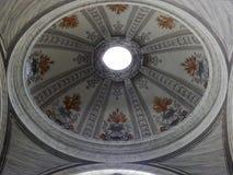 Roma - il Volta di una cappella della basilica dei san Ambrose e Charles Immagini Stock Libere da Diritti